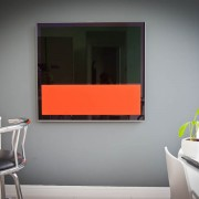 Residential interior photograph demonstrating AV media installation in the kitchen , London