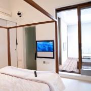 Residential interior photograph demonstrating AV media installation , London
