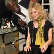 Errol Douglas and Emilia Fox at the hairstylist