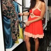 Jameela Jamil views clothing at the launch of designer Star Hu
