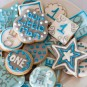 1st birthday party decorated biscuits, Buckinghamshire