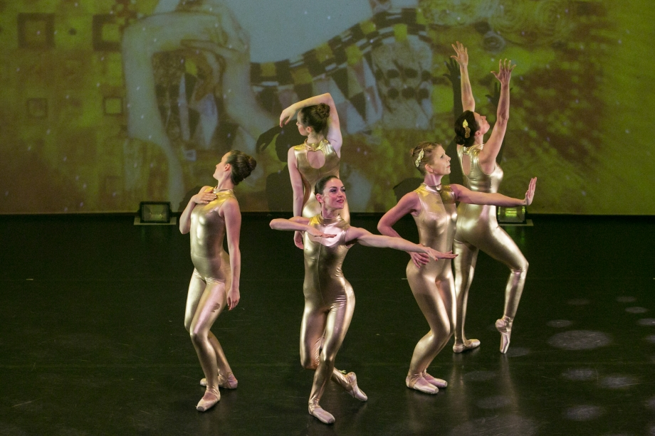 Dancers on stage during live performance in marrow, Buckinghamshire